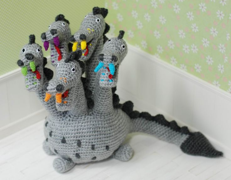 Dino Amigurumi Crochet Dragon Dinosaur Toy Animal Baby Girl Boy Soft Grey Colorful Customized Toys Hadmade Gift - https://www.etsy.com/listing/238730468/dino-amigurumi-crochet-dragon-dinosaur?ref=shop_home_active_1