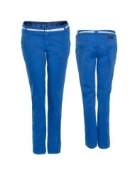 Eight2Nine by Fresh Made Chino Damen mit Gürtel Chinohose real blau