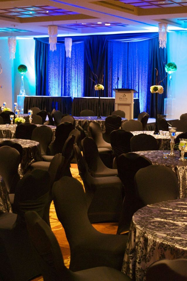 Spectacular backdrop design for gala event. Moncton NB | Unico Decor