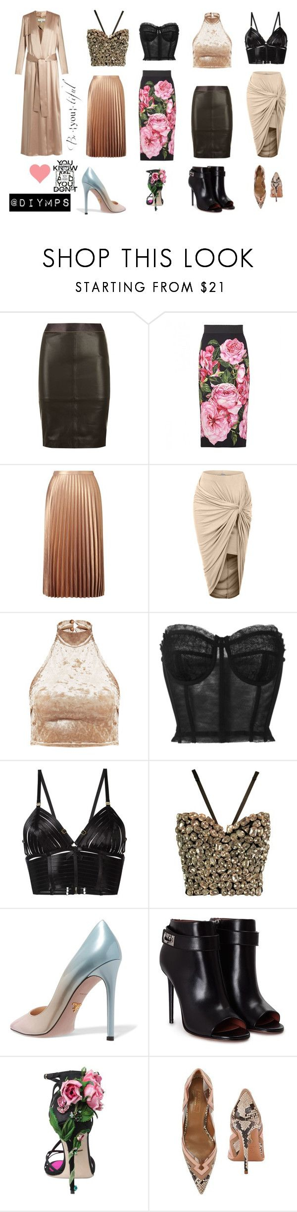"""""""Today's outfits"""" by diymps on Polyvore featuring Reiss, Dolce&Gabbana, Miss Selfridge, LE3NO, Bordelle, Prada, Givenchy, Aquazzura, Galvan and Chanel"""