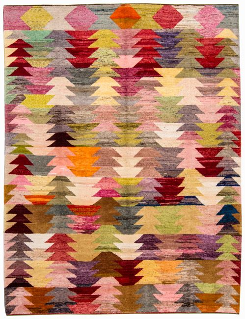 Awesome Old Yarn Rug   Loom Rugs