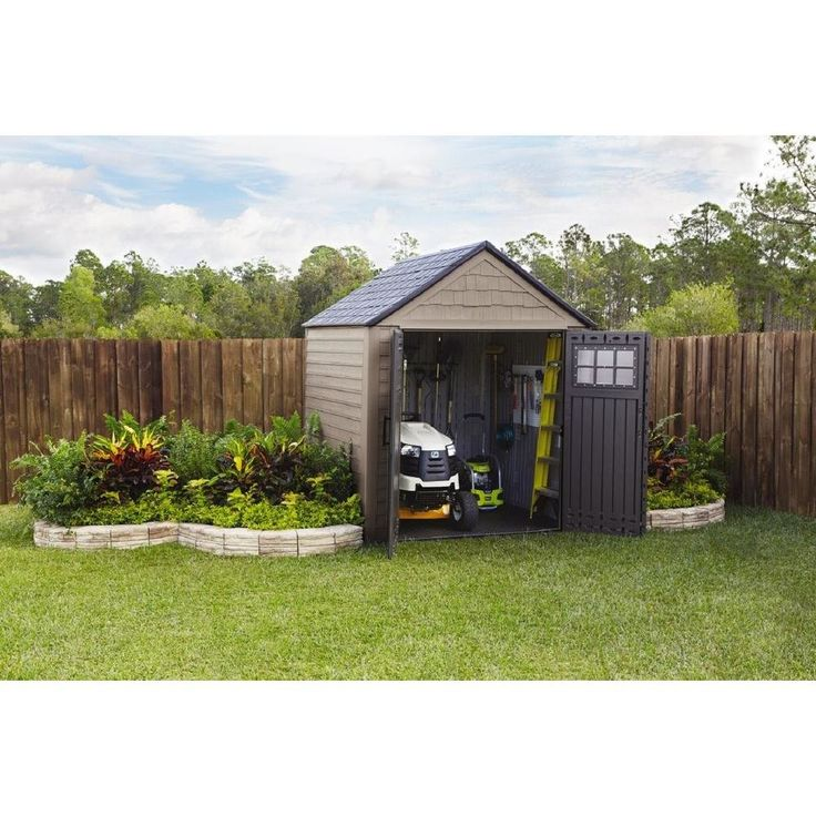 25 best ideas about plastic storage sheds on pinterest for Garden shed 7x4