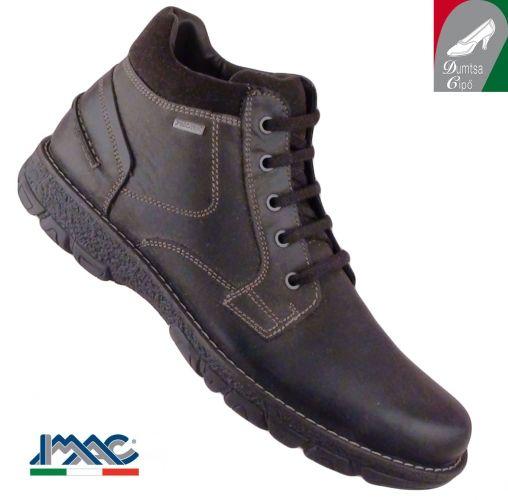 Imac férfi vízálló férfi bőr cipő 41108 3503/017 sötétbarna