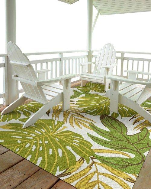 Green Palm Tropics Rug