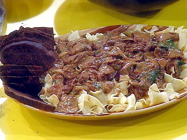 gonna make Rachel Ray's beef stroganoff for dinner tomorrow.  YUMMO