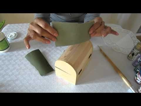 Decorar una caja de madera