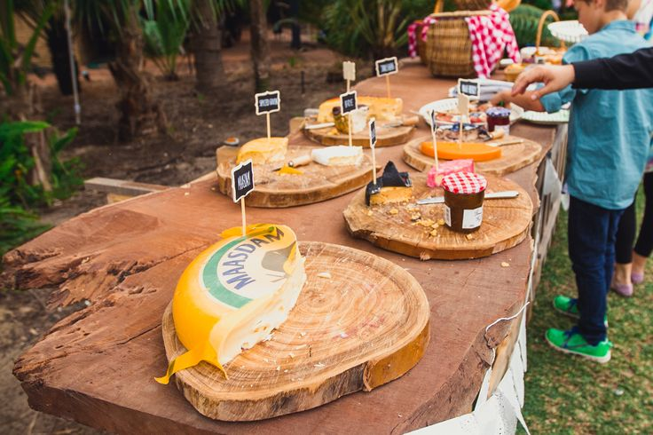 wooden cheese board, engagement party.