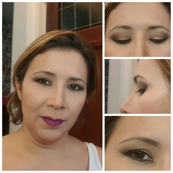 #beautyat40's  #makeup #brownandblack #brownandgold #kryolan #sephora #lancome