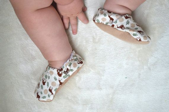 buck baby shoes deer girl shoes deer baby clothing by SweetSwaddle