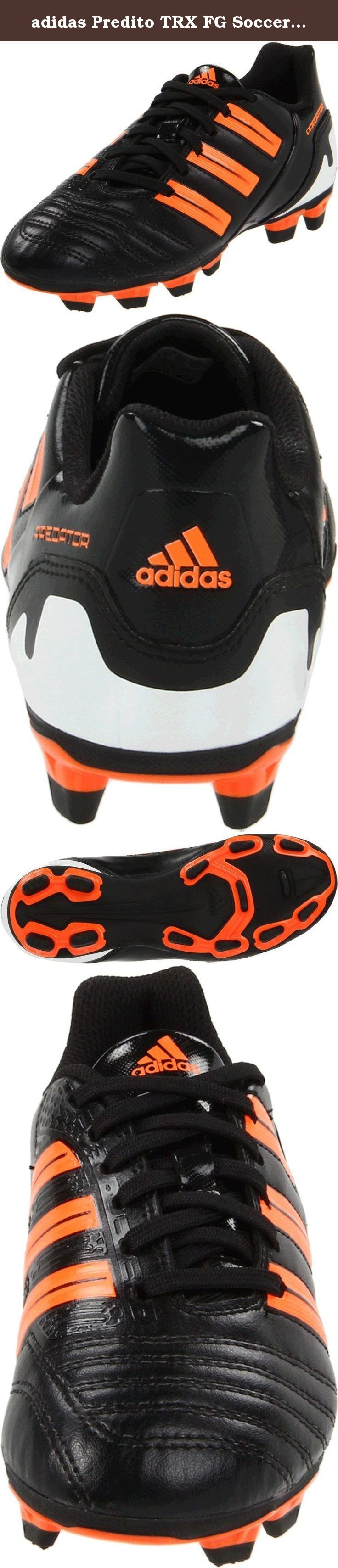 adidas Predito TRX FG Soccer Cleat (Toddler/Little Kid/Big Kid),Black/Warning/White,6 M US Big Kid.