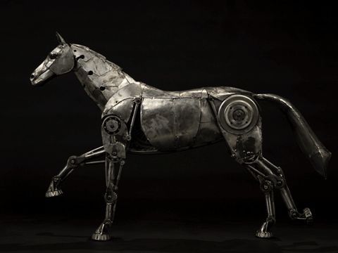The imagination of the people who created these steampunk horses has to unbelievable, when you see you will know what I mean....       Willi...