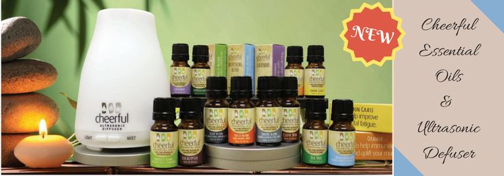 Cheerful Essential Oils is a new line from A Cheerful Giver available at Salesmark Inc. 100% pure essentials using the purest raw materials from Thailand, Singapore and India.  Just add 4-6 drops of their 100% Therapeutic-Grade Essential Oil to about 3oz. of water in the Ultrasonic defuser to fill an entire room with a pleasing fragrance that yields natural health benefits.