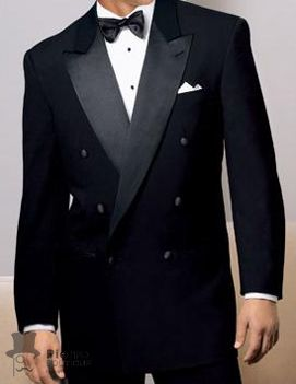 Men's Black Double Breasted Tuxedo-Classic and formal!