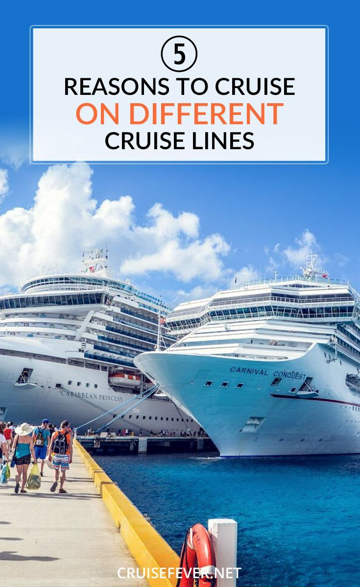 I'm a firm believer that you really miss out on a lot that cruising has to offer by limiting yourself to just one line. Here are 5 reasons why you should take cruises on different cruise lines.