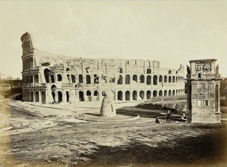 Rome: Colosseum, Meta Sudans and Arch of Constantine - 1860 - Imgur