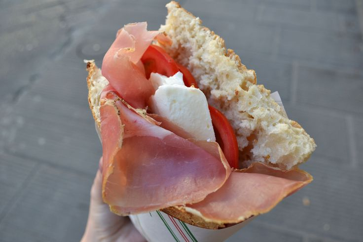 Lunch from All'Antico Vinaio, Florence, Italy.
