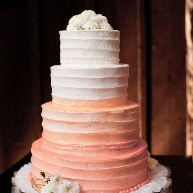 peach wedding cakes   Ombre Peach Wedding Cake