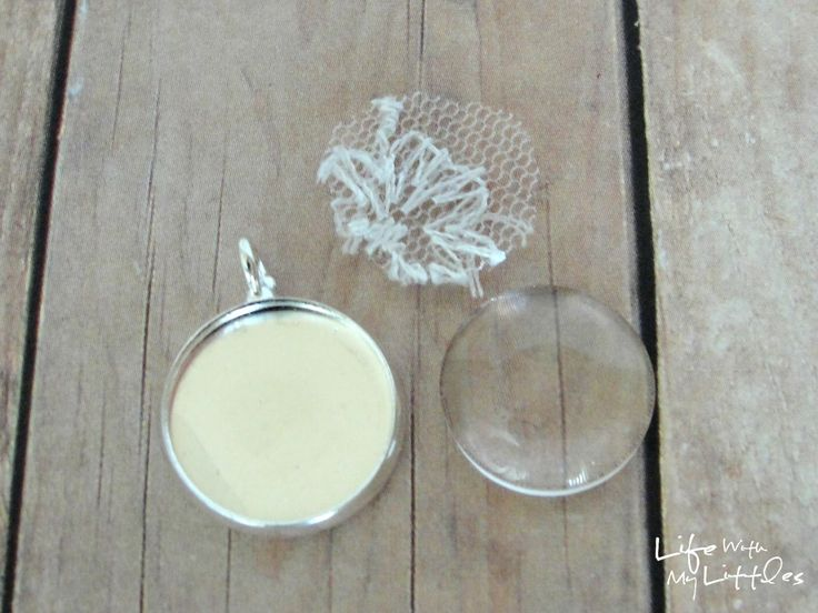 Life With My Littles: Things to Do With Your Wedding Dress: Wedding Dress Pendant Necklace Tutorial