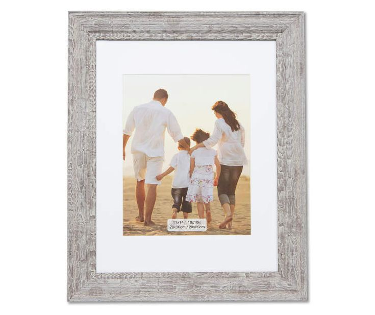 I found a Gray Barn Wood Picture Matted Frame, (11