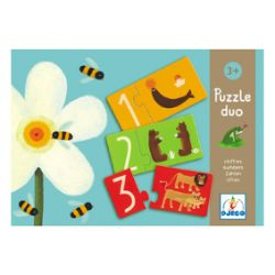 Numbers Puzzle Duo by Djeco - MySmallWorld.co.uk