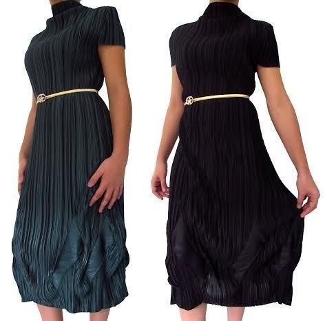 Vestido Tafetá com cinto... R$ 55,90