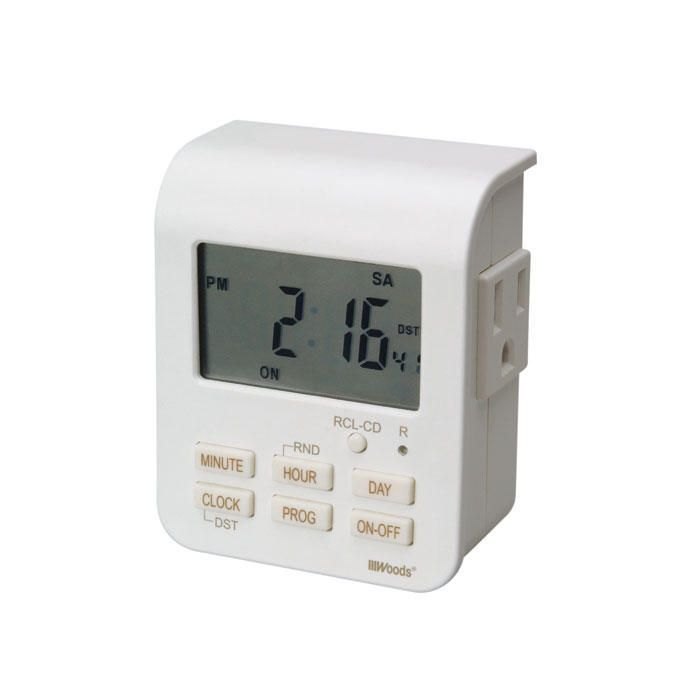 Heavy-Duty Digital Timer with Dual Outlets