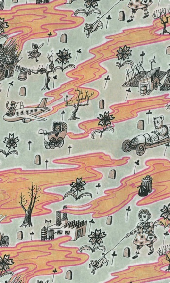 Liberty Fabric - Flo (Colour D) by Grayson Perry
