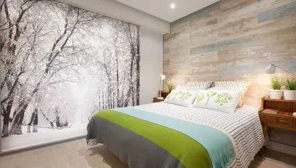Dormitorio cálido y luminoso con ambiente natural