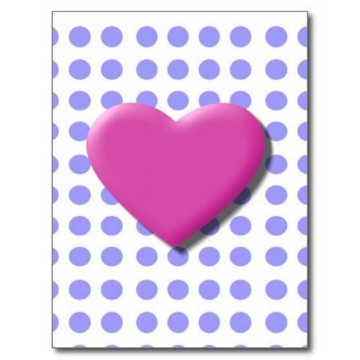 Blue and Pink Hearts Postcards