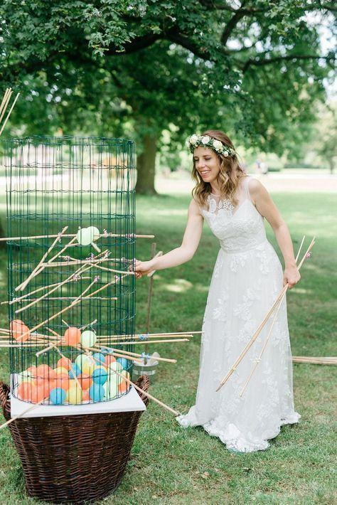 Hochzeitsspiele für Gartenhochzeit - 10 Ideen für die Beschäftigung und Unterhaltung eurer Gäste auf der Hochzeit | Hochzeitsblog The Little Wedding Corner