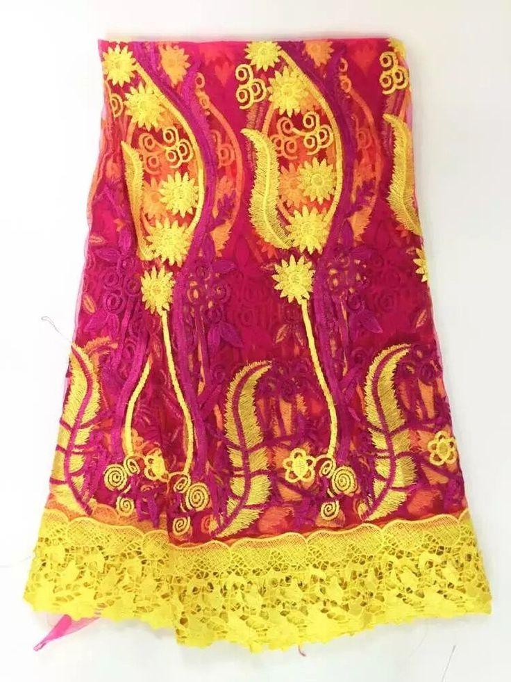 Дважды цветов французский чистая кружева для свадебного платья. африканские Кружева, Тюль с Для Нигерийского Свадьбы 5yd/lot WKS18-1