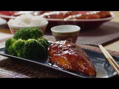 Запеченная в духовке курица в соусе терияки - YouTube