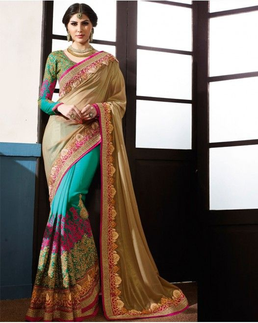 Adorable Skyblue And Cream Designer Sarees  #designersareeswedding #latestdesignersarees #indiandesignersarees #designersareescouture #designersareesforgirls #designersarees2017 #floraldesignersarees #plaindesignersarees #whitedesignersarees #designersareespartywear #bollywooddesignersarees #simpledesignersarees #vogueindia #lakmefashionweek #bollywood #fashion #shopping #usa #india #indianwear