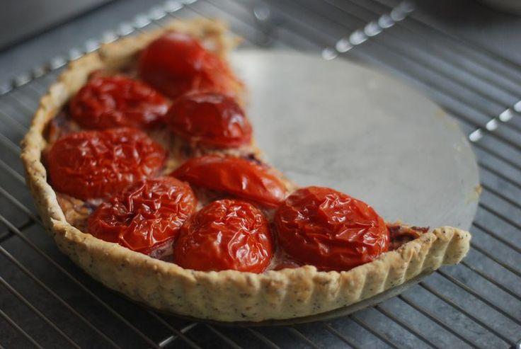 Tomato mustard tart | Veg | Pinterest
