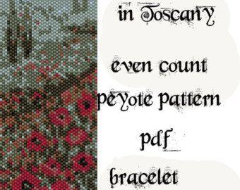 Peyote Pattern for bracelet:Pink Roses INSTANT by Beadamor on Etsy