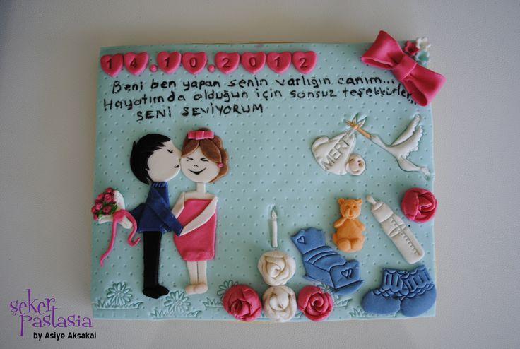 1.Evlilik Yıldönümü Dev Kurabiye