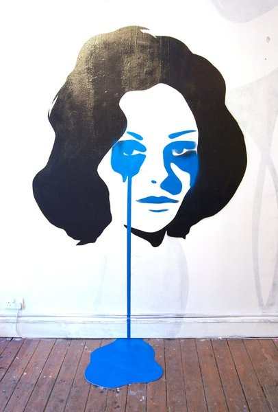 sometimes I feel blue... @saatchi gallery