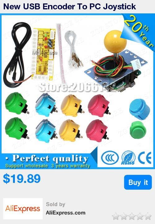 New USB Encoder To PC Joystick Games Sanwa JLF-TP-8YT Rocker + 10x Push Buttons For Arcade DIY Kits Parts KOF * Pub Date: 00:04 Oct 14 2017