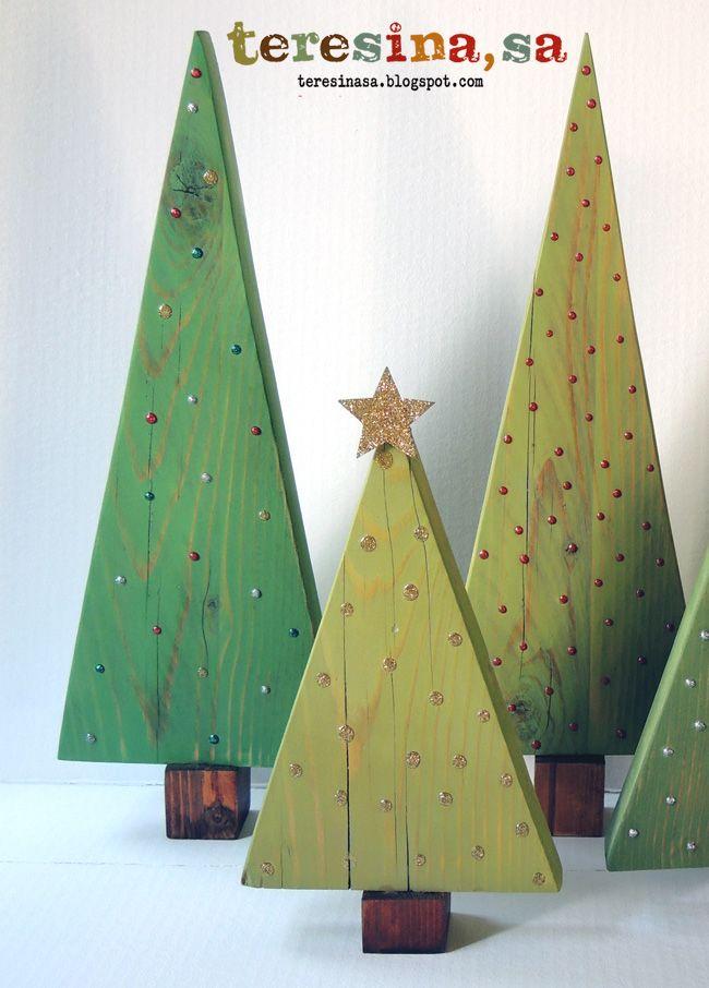 Tutorial arboles de navidad en madera