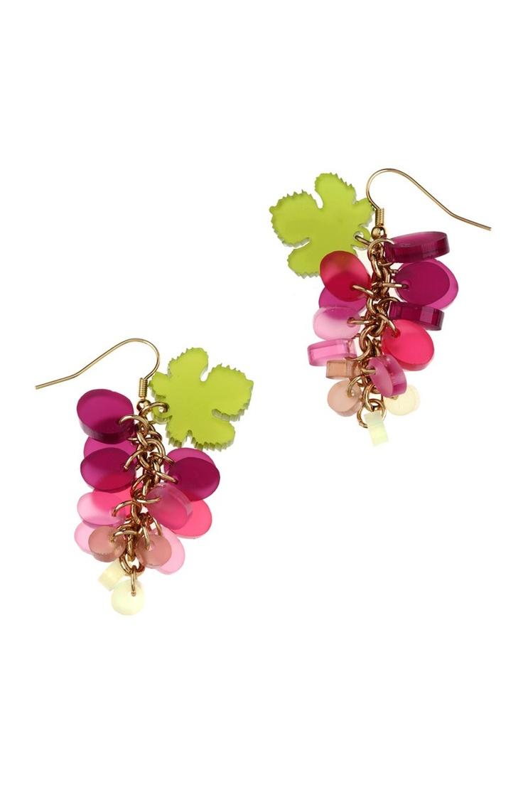 Tatty Devine Autumn/Winter 2012: Grapes Earrings - purple - £48: https://www.tattydevine.com/shop/by-product/collections/autumn-winter-2012/grapes-earrings-purple.html