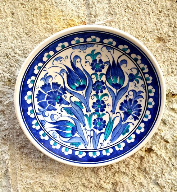 Hand Made Turkish Ceramic Plate / Wall Decor by Turqu50 on Etsy, $20.00