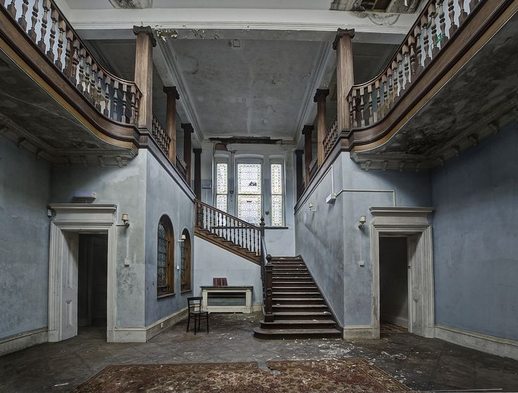 Staircase in abandoned school//what a lovely place this must have been, such a shame to let it go like this.