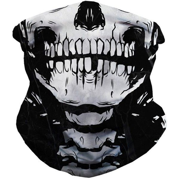 iHeartRaves Skeleton Seamless Bandana, X Ray Skull Face Mask for Dust,... ($14) ❤ liked on Polyvore featuring accessories and masks