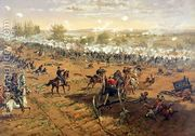 Battle of Gettysburg, 1863, printed by L. Prang and Co., 188...  by Thure de Thulstrup