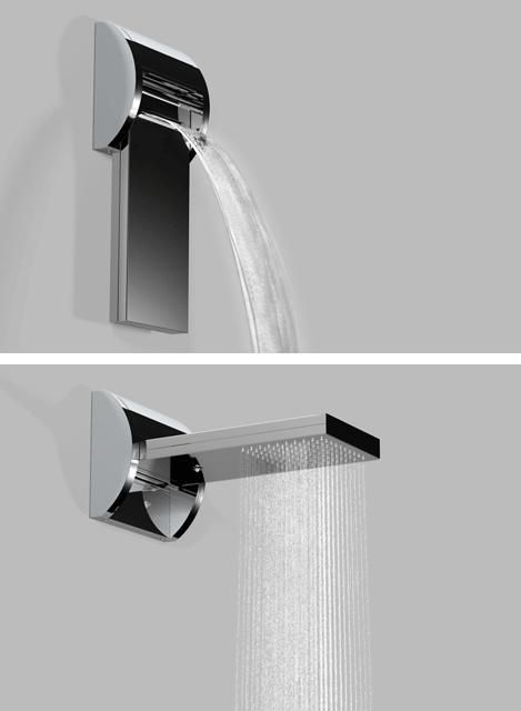 waterfall OR rain shower head so handy!! I know how moody I am even when I'm not pregnant so to give a laboring momma this option would be wonderful :)