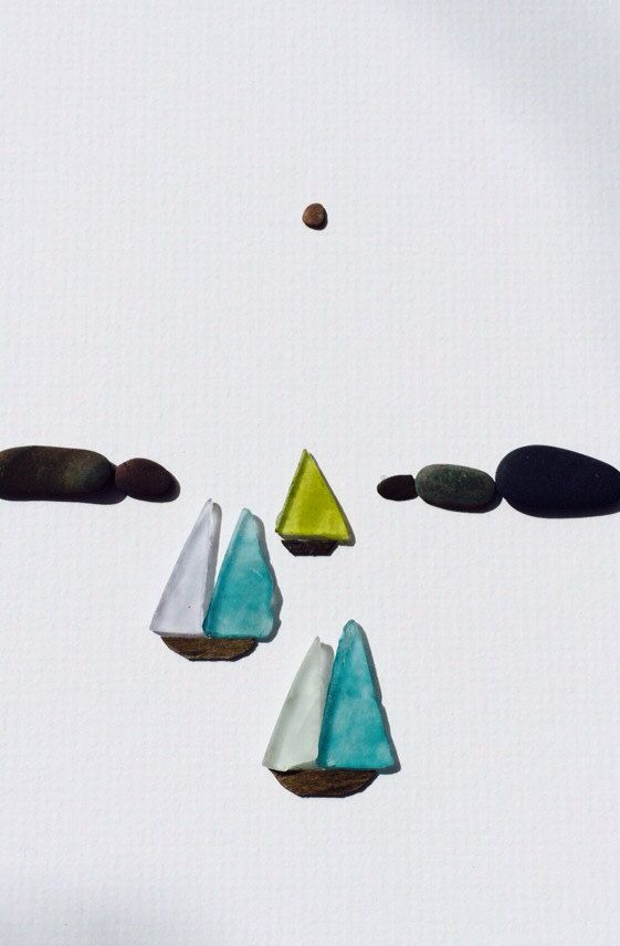 Sharon nowlan pebble art of Nova Scotia with sea by PebbleArt, $120.00
