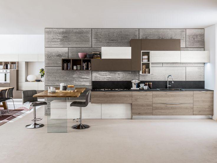 Le 25 migliori idee su bancone in legno su pinterest - Cucina laminato effetto legno ...