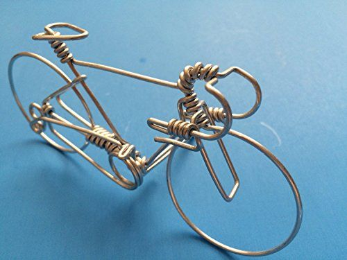 Handcrafted Mens Road Bike Medium  Unique Biking Gifts for Cyclists  Handmade Bicycle Ornament with One Whole Aluminum Wire w No Single Break * You can find out more details at the link of the image.