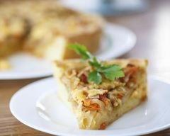 Tarte d'automne au chou blanc, bacon et miel (facile, rapide) - Une recette CuisineAZ