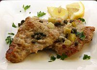 Veal Cutlet Recipe with Lemon, Garlic, and Capers